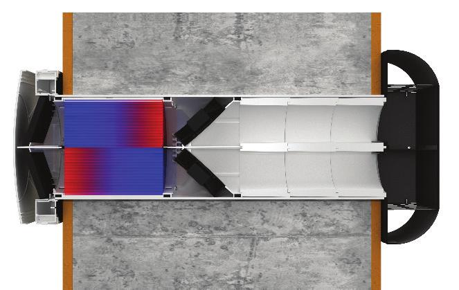 Roomie Dual Wi-Fi od firmy Flexit môže byť inštalovaný jednotlivo, vo dvojiciach alebo v niekoľkých sériách. Inštaláciou dvoch jednotiek do rovnakej miestnosti získate vyvážené vetranie vašich obytných priestorov.